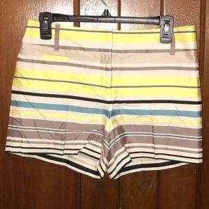 LOFT Multicolored Riviera Shorts Size 0